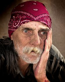 Free Man In Red Bandanna Stock Image - 82959941