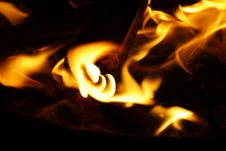 Free Yellow Flame Royalty Free Stock Photo - 82959975