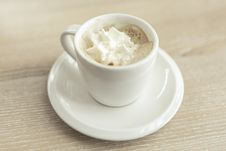 Free Cup Of Coffee And Whipped Cream Stock Photo - 82959980