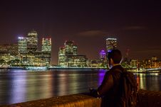 Free London Skyline At Night Stock Photo - 82960060