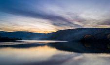 Free Sunset Over Lake Landscape Royalty Free Stock Photos - 82960488