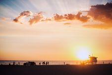 Free Beach At Sunset Royalty Free Stock Photo - 82960605