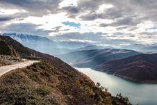 Free Aerial View Of Alpine Lake Stock Image - 82960631