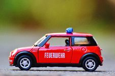 Free Red Diecast Mini Cooper Police Car Royalty Free Stock Photo - 82960885