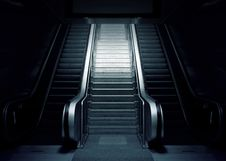 Free Escalator And Stairs Royalty Free Stock Photo - 82961145