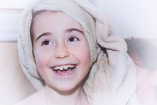 Free Young Girl With Towel On Head Stock Photography - 82961222