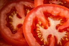 Free Slices Of Fresh Red Tomatoes Royalty Free Stock Images - 82961469