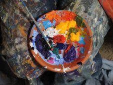 Free Painters Pallet Stock Images - 82961564
