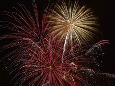 Free Fireworks In Dark Skies Royalty Free Stock Image - 82961586