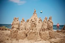 Free Sand Sculpture On Beach Under Blue Sky Royalty Free Stock Image - 82961866