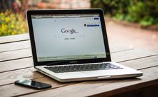 Free Google Search Engine On Macbook Pro Royalty Free Stock Image - 82962266