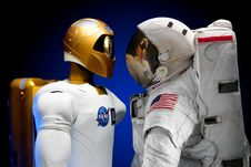Free Human And Robotic Astronauts Royalty Free Stock Images - 82962479