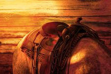 Free Brown Leather Horse Saddle Royalty Free Stock Photography - 82962577