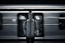 Free Man At Metro Station Royalty Free Stock Photo - 82962655