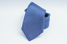 Free Blue Silk Tie With Square Patterns Stock Image - 82962931