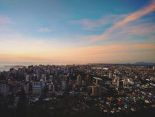 Free Aerial View Of Modern City Skyline Royalty Free Stock Image - 82962966