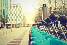 Free Bicycles On Streets Of Dublin, Ireland Stock Image - 82963181