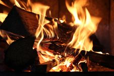 Free Close Up Of Burning Fire Royalty Free Stock Photography - 82963227