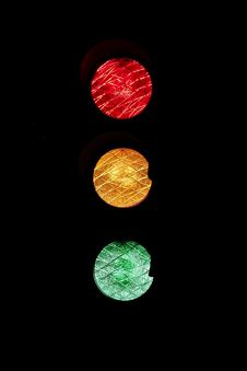 Free Traffic Light On Black Stock Photography - 82963242