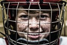 Free Boy With A Football Helmet Smiling Stock Photos - 82963673