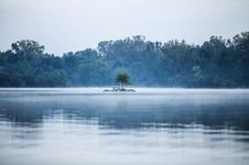 Free Misty Lake And Tropical Jungle Stock Photo - 82963760