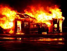 Free Burning Garage Stock Photos - 82963923