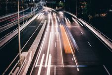 Free Timelapse Photo Of Vehicles In Road During Night Time Royalty Free Stock Photos - 82964198