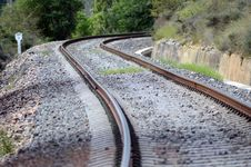 Free Train Tracks Winding A Mill Royalty Free Stock Photo - 82964255