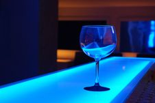 Free Glass On Blue Counter Stock Photography - 82964752