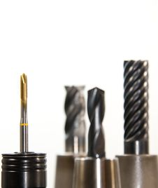 Free Selective Photo On Gold And Silver Drill Bit Stock Photography - 82965102