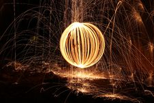 Free Sparks And Orb Of Light Painting Stock Photography - 82965262