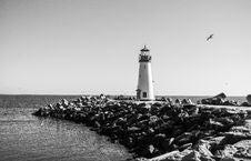 Free Walton Lighthouse At Santa Cruz Stock Image - 82965681
