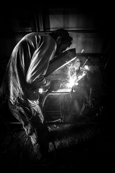 Free Greyscale Photo Of Person Having Welding Royalty Free Stock Images - 82974269