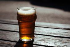 Free Glass Of Beer On Table Royalty Free Stock Image - 82974906
