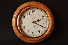 Free Brown Wooden Framed Clock Showing 2:19 Stock Photography - 82975582