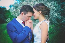 Free Man Kissing Woman S Right Hand Stock Photo - 82976070