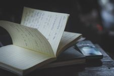 Free Journal On Tabletop Stock Photography - 82978302