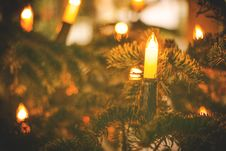 Free Christmas Tree With Candles Stock Image - 82978581