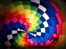 Free Inside Colorful Hot Air Balloon Royalty Free Stock Image - 82978606