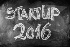 Free Startup 2016 Royalty Free Stock Image - 82978696
