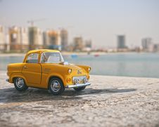 Free Mini Antique Yellow Taxi Cab Photo Royalty Free Stock Photography - 82978707