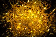 Free Close-up Of Yellow Christmas Lights Stock Photos - 82978993