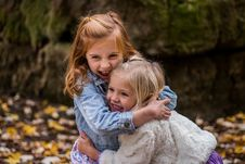Free 2 Girls Hugging Each Other Outdoor During Daytime Stock Image - 82979001