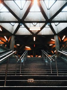 Free Black Stairs With Silver Balustrade Stock Photo - 82979150
