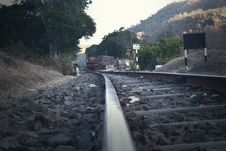 Free Railroad Tracks Amidst Trees Against Sky Royalty Free Stock Photos - 82979308