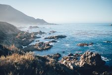 Free Sea Shore In Misty Conditions Royalty Free Stock Image - 82979326