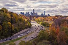 Free Traffic On Road To Modern City Royalty Free Stock Image - 82979446