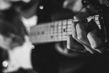 Free Close Up Of Hands On Guitar Royalty Free Stock Images - 82979709