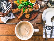 Free High Angle View Of Breakfast On Table Stock Photo - 82979730