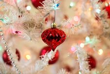 Free Close-up Of Christmas Decoration Hanging On Tree Royalty Free Stock Photos - 82979858